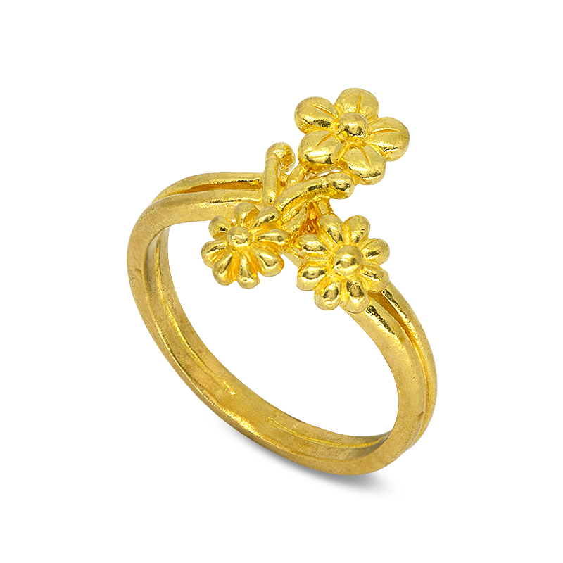 RING 99.99% GOLD LITTLE SWEET L062-1